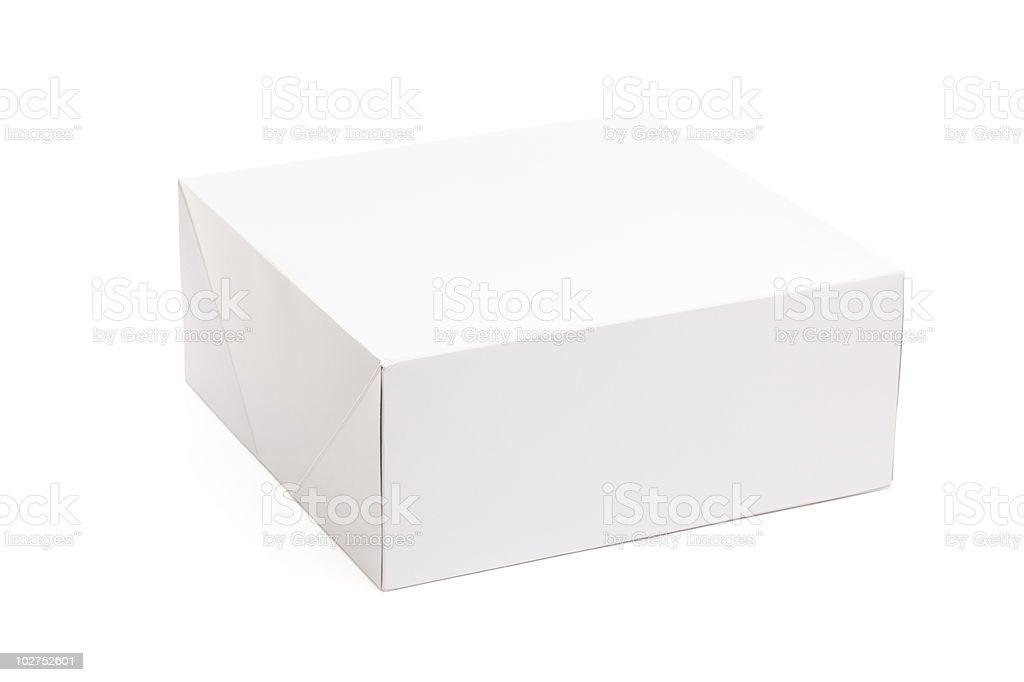 Blank White Box Isolated on Background royalty-free stock photo