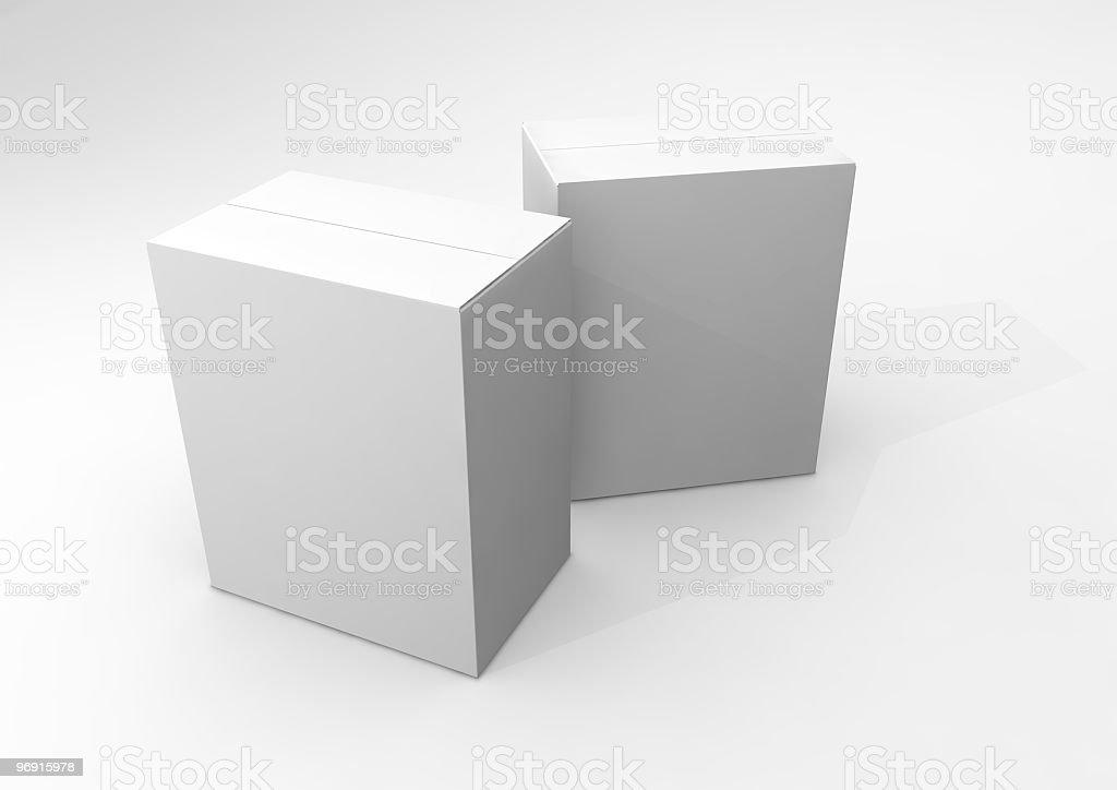 Blank White Boxes royalty-free stock photo