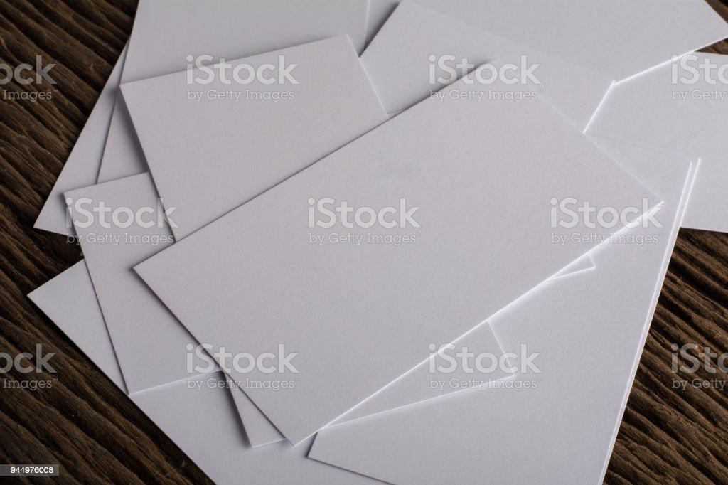 Leere Weiße Visitenkarte Darstellung Der Corporate Identity