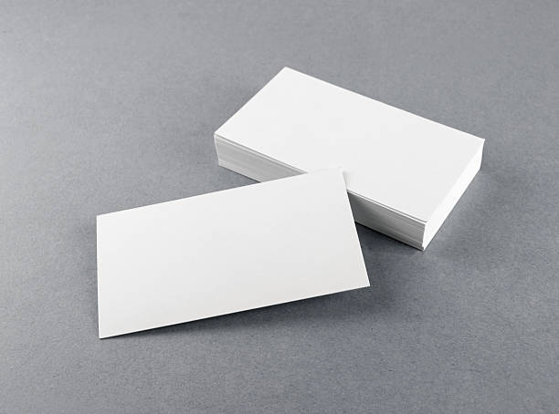 blank white business cards - business card stock photos and pictures