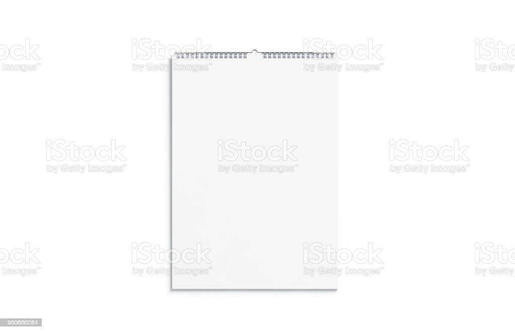 Leerer weißen Kalender mock vorne Ansicht, isoliert – Foto