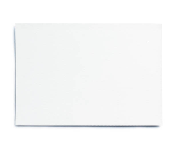 blank white card - gift tag note stock photos and pictures
