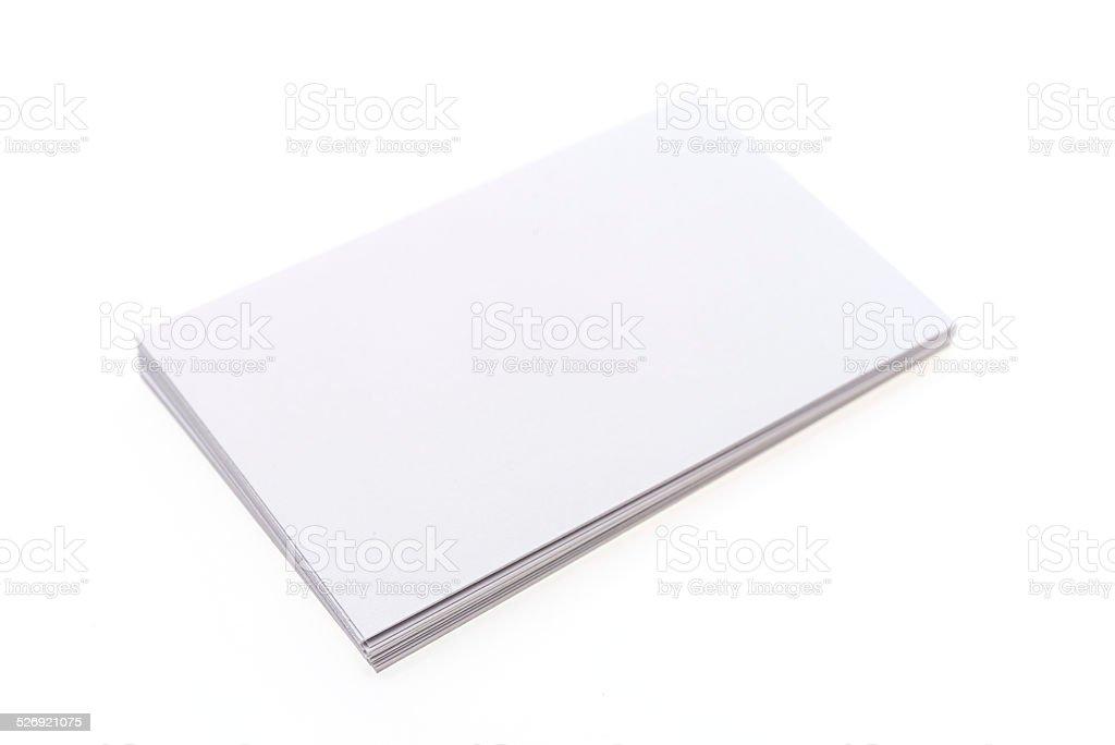 Blank white card stock photo
