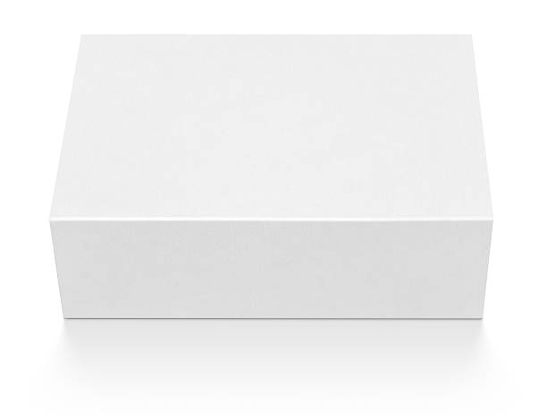 Vide blanc Boîte en carton - Photo