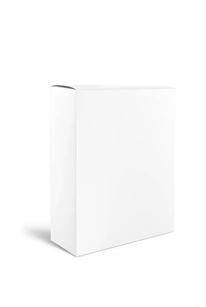 Blank White Cardboard Product Box stok fotoğrafı