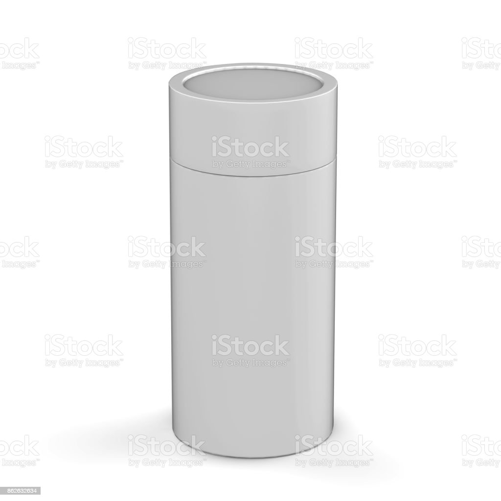 Blank White Cardboard Product Package Round Container Box For Mock