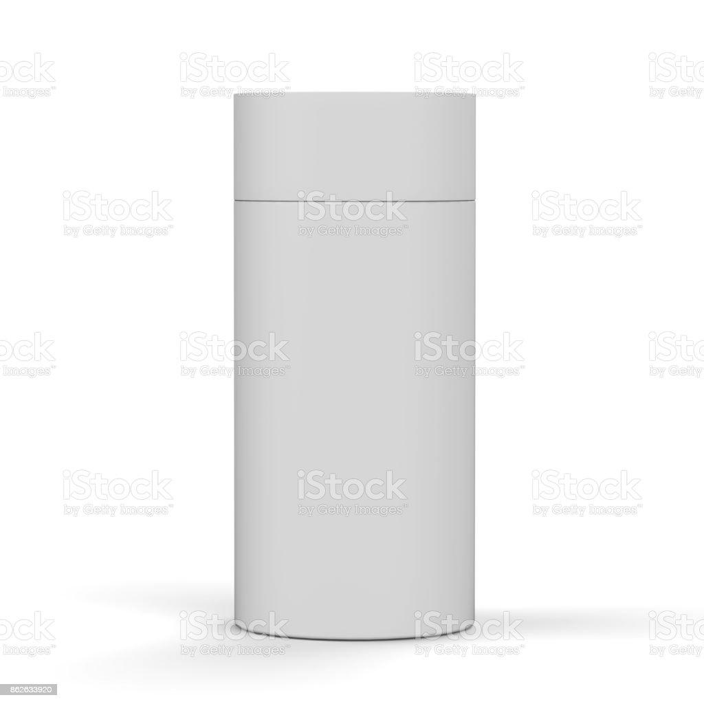 Blanco Blanco Producto De Cartón Caja De Envase Redondo Para Mock Up ...