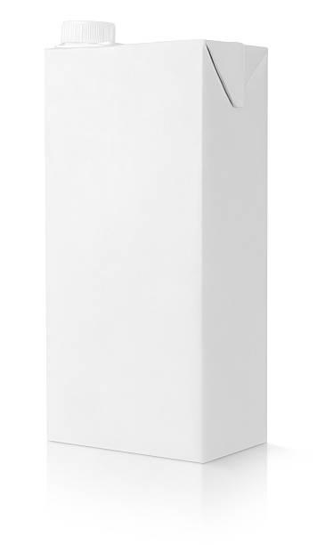 Vide blanc paquet de Jus en brique - Photo