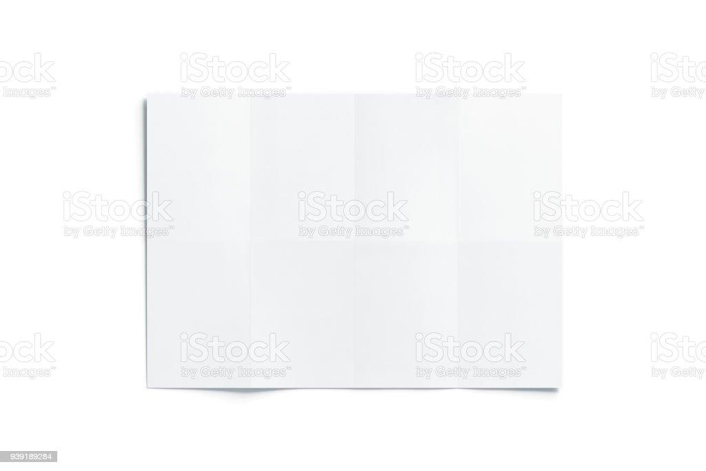Blank white chart booklet mockup, opened stock photo