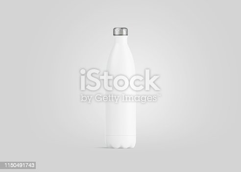 1129148925istockphoto Blank white closed thermo sport bottle mockup, 3d rendering. 1150491743