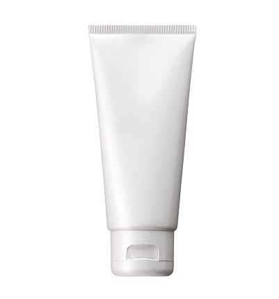 White plastic tube pack Of cosmetic, Cream Or Gel. Ready for your package design. isolated on white background - realistic photo image - with clip path