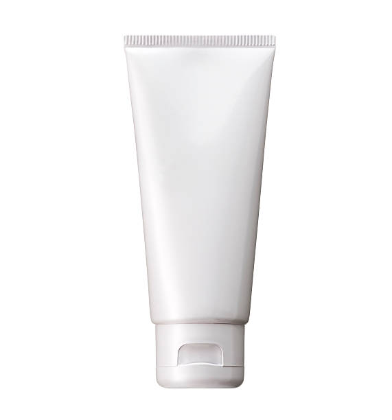 blank white cosmetic tube pack of cream or gel. - tube stock pictures, royalty-free photos & images