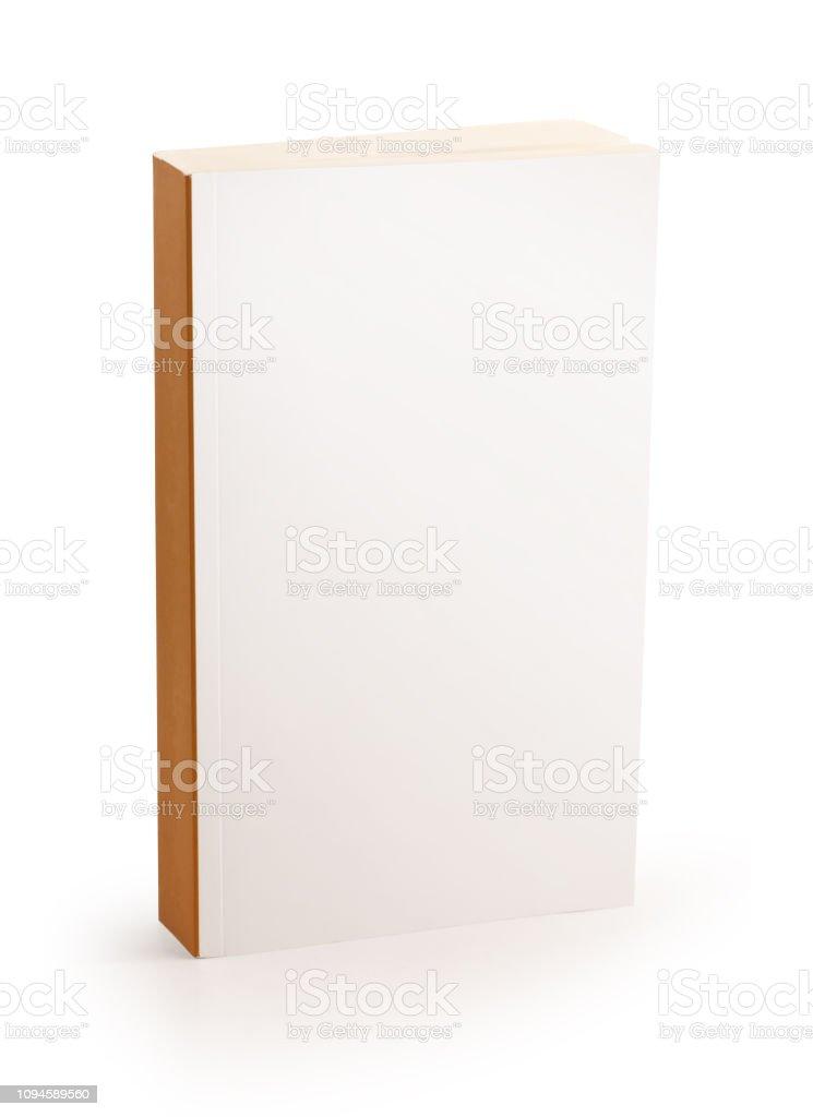 leere weiße Abdeckung Buch - Clipping-Pfad – Foto