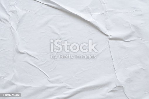 1184990536istockphoto Blank white crumpled and creased paper poster texture background 1188759461