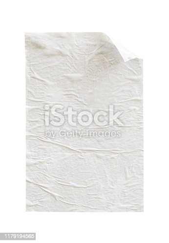 1173163236istockphoto Blank white crumpled and creased paper poster texture isolated on white background 1179194565