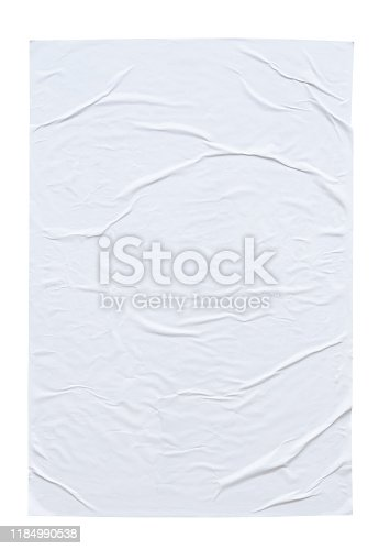 1173163236istockphoto Blank white crumpled and creased paper poster texture isolated on white background 1184990538