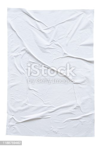 1173163236istockphoto Blank white crumpled and creased paper poster texture isolated on white background 1188759462