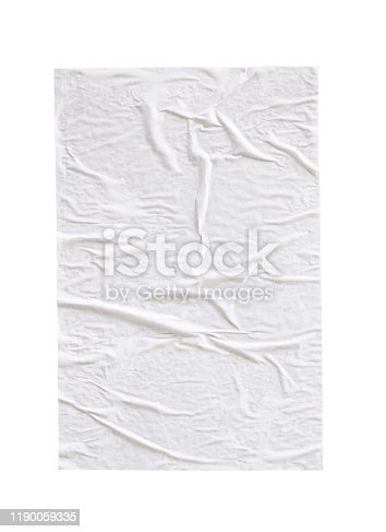 1173163236istockphoto Blank white crumpled and creased paper poster texture isolated on white background 1190059335