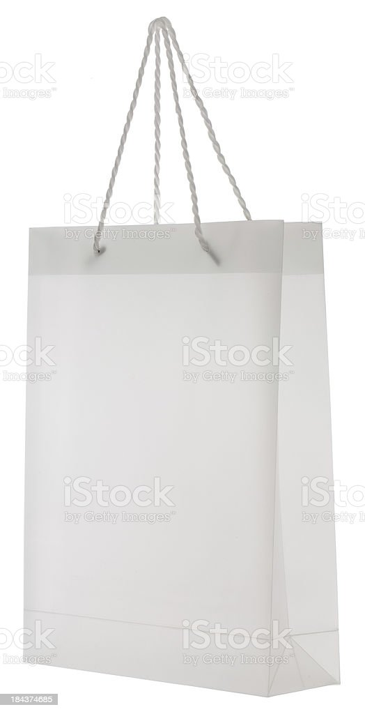 Blank white deluxe shopping bag royalty-free stock photo