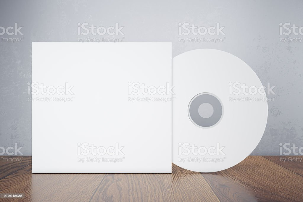 Blank white disk stock photo