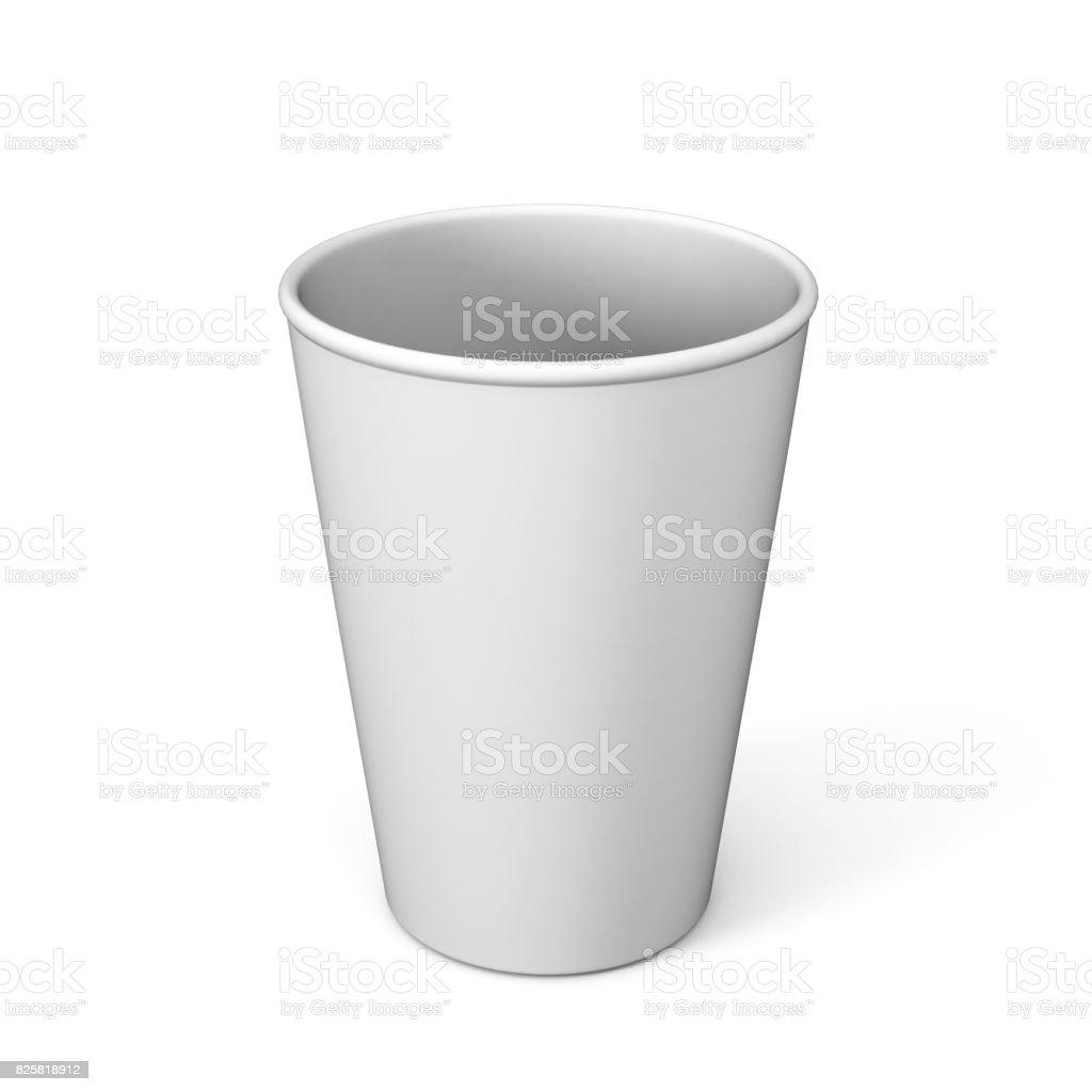 Leere Weiße Einweg Kaffee Kleine Tasse Glas Für Mock Up Heiß Und ...