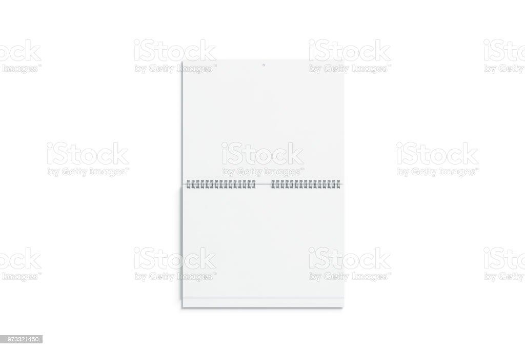 Leere weiße doppelte Wandkalender mock vorne Ansicht – Foto