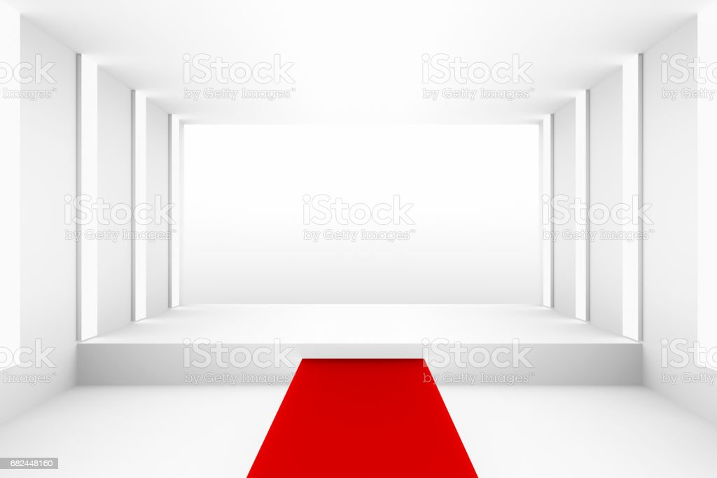 white carpet background. blank white empty podium with red carpet for backdrop design template pr layout background royalty g