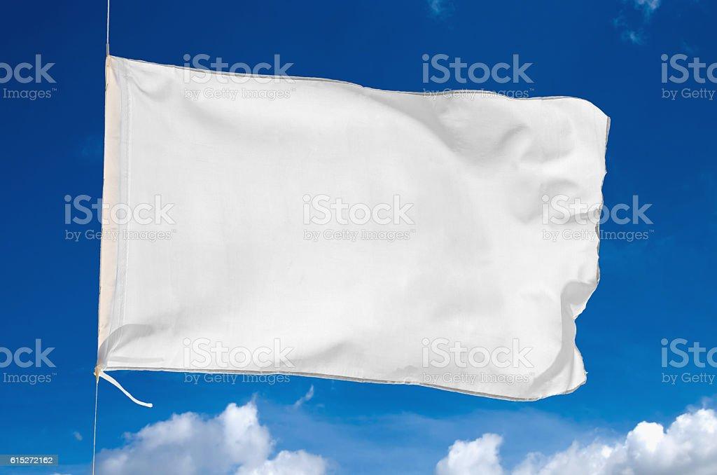 blank white flag stock photo