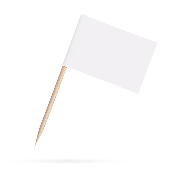 flag.isolated em branco branco sobre fundo branco - palitinho - fotografias e filmes do acervo