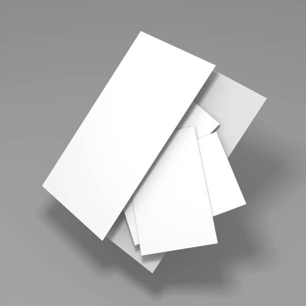 Blanke weiße Ordnerbrosche-Vorlage mockup – Foto