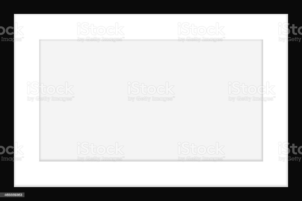 Blank White Frame With Thick Black Borders Stock Photo & More ...