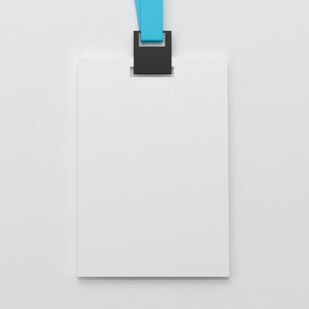 Blank white identity card mock-up stock photo