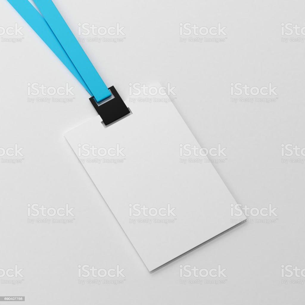 Maqueta de blanco en blanco de la tarjeta de identidad - foto de stock