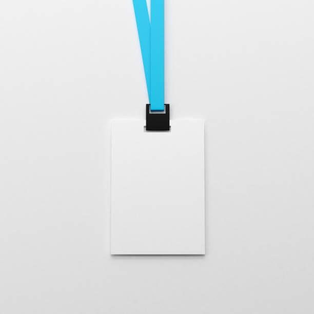 Leere weiße Personalausweis Mock-up – Foto