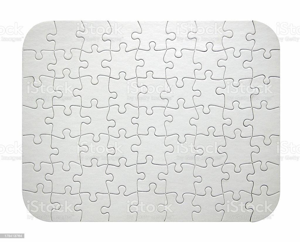 Blank White Jigsaw Puzzle royalty-free stock photo