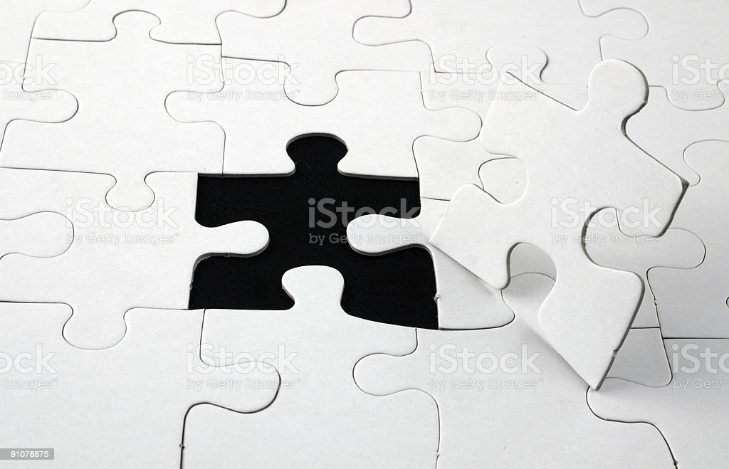 blank white jigsaw puzzle royalty-free stock photo