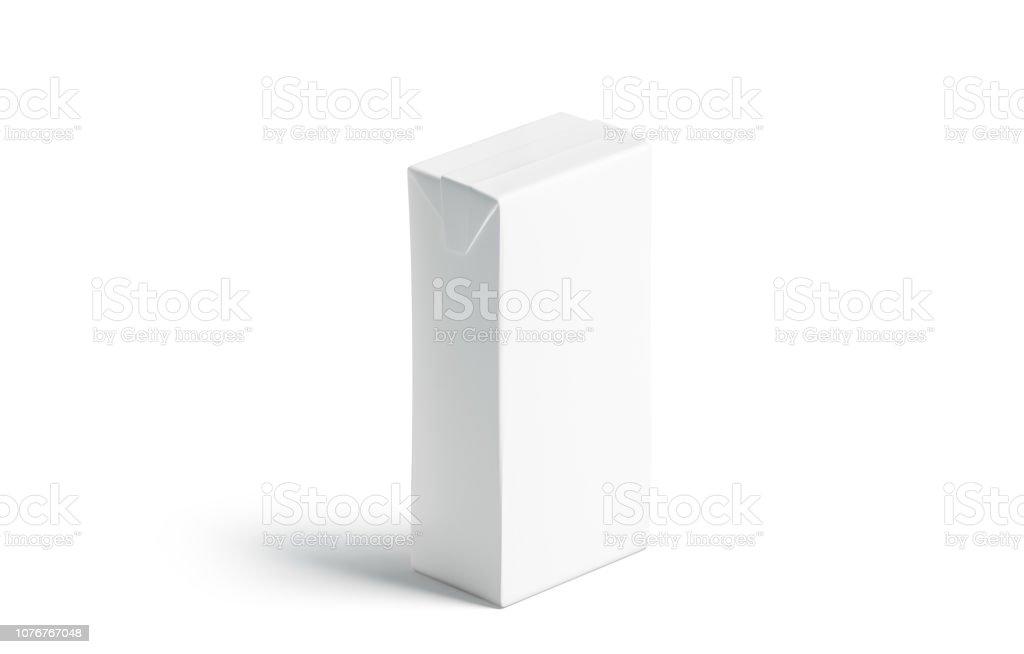 Suco de branco em branco pack maquete, ficar isolado, - foto de acervo