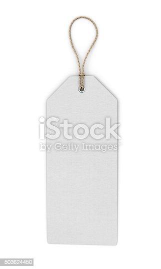istock Blank white label 503624450