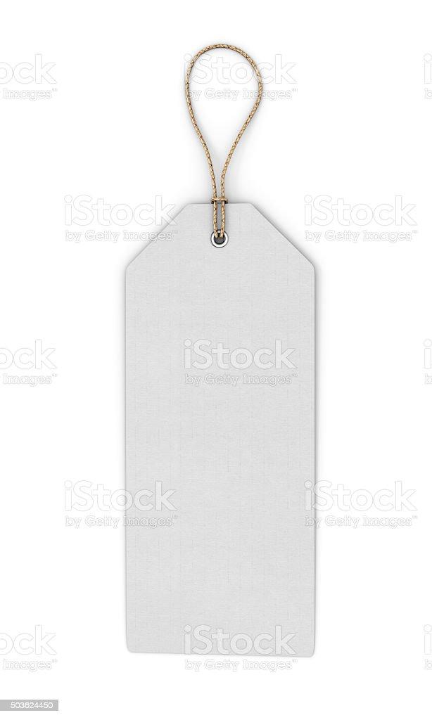Blank white label stock photo