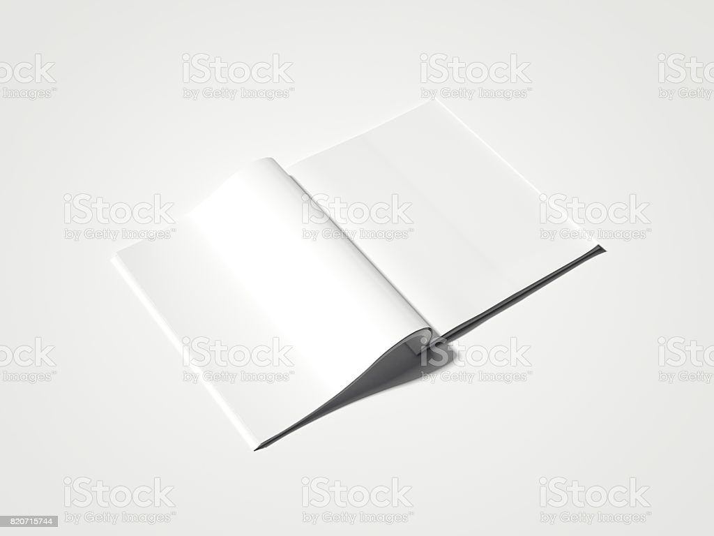 Blank white magazine. 3d rendering stock photo
