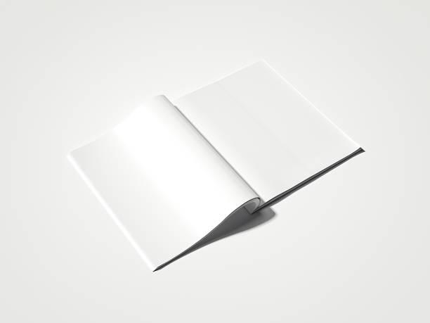 leere weiße magazin. 3d-rendering - planner inserts stock-fotos und bilder