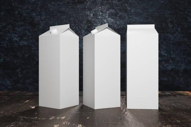 Emballages de lait/jus blanc blanc - Photo