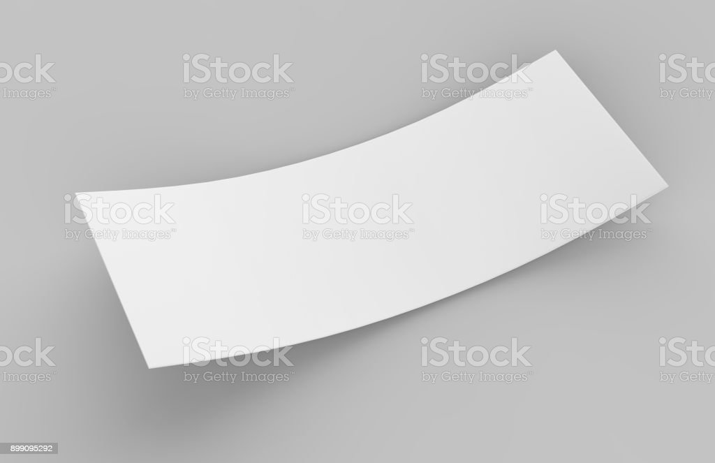 Blank White Mock Up Template Gift Voucher Card On The Grey ...