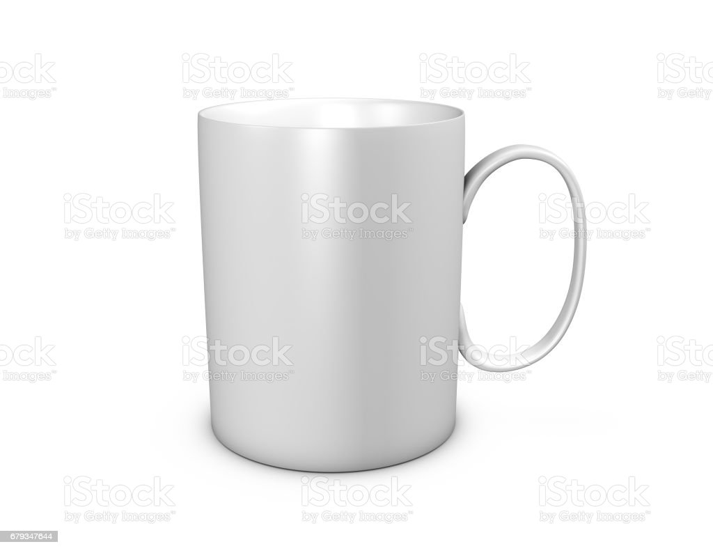 f4f1733b8ad Blank White Mug Mock Up 3d Rendering Isolated On White Stock Photo & More  Pictures of Blank