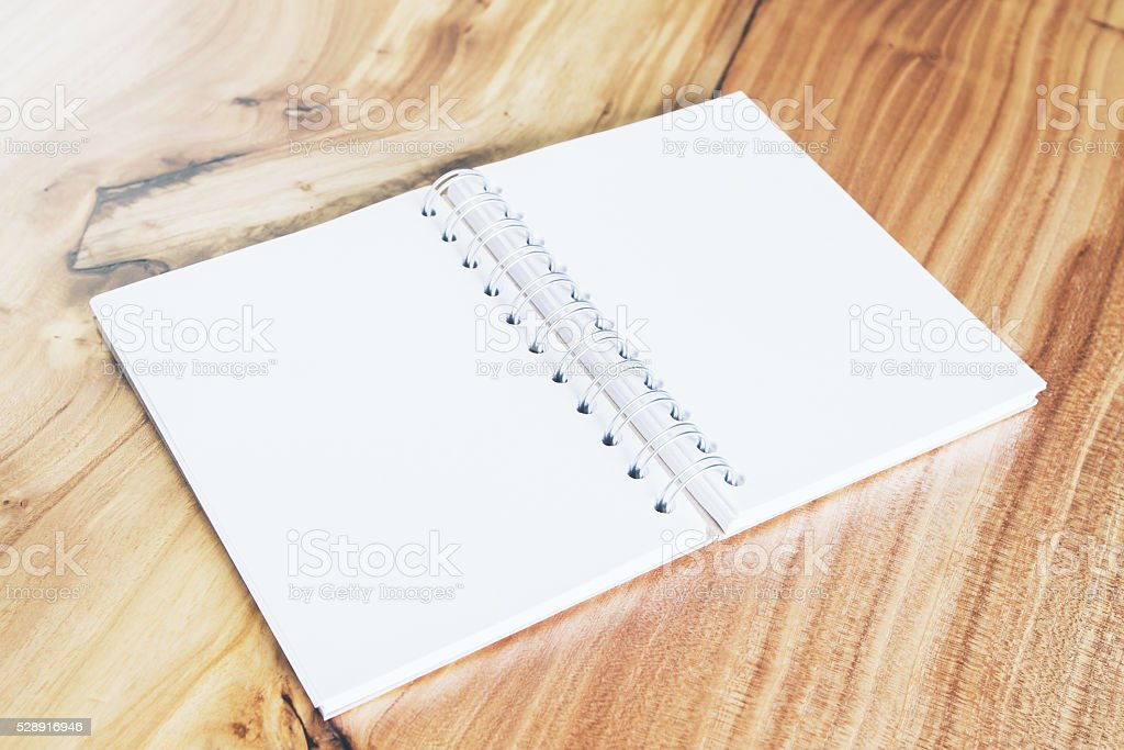 Blank white notpad stock photo
