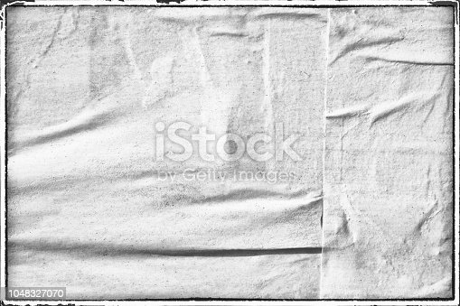 1087065964 istock photo Blank white old ripped torn paper crumpled creased posters grunge textures backdrop backgrounds placard 1048327070