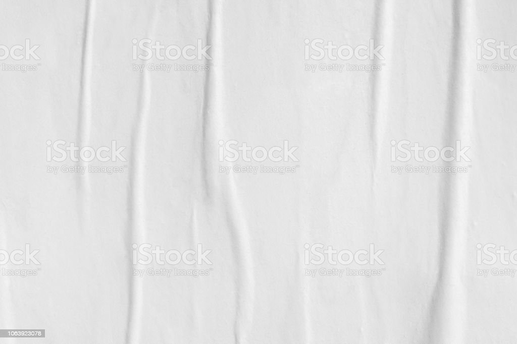Blank white old ripped torn paper crumpled creased posters grunge textures backdrop backgrounds placard stock photo