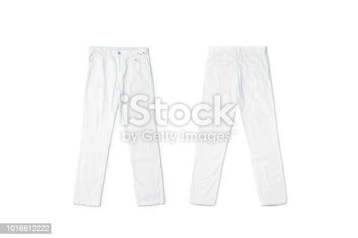 e7111631e1 istock Blank white pants lying mock up, front and back side 1016612222 >>