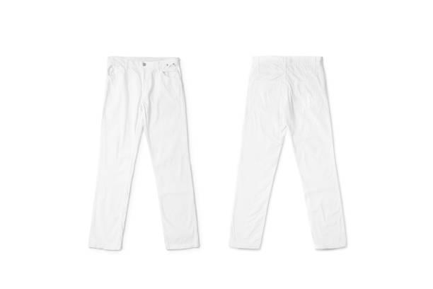 branco em branco calças mentiroso mock up, frente e verso - calça comprida - fotografias e filmes do acervo