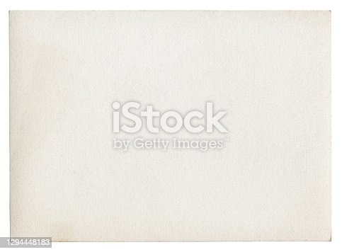 istock Blank white paper isolated 1294448183